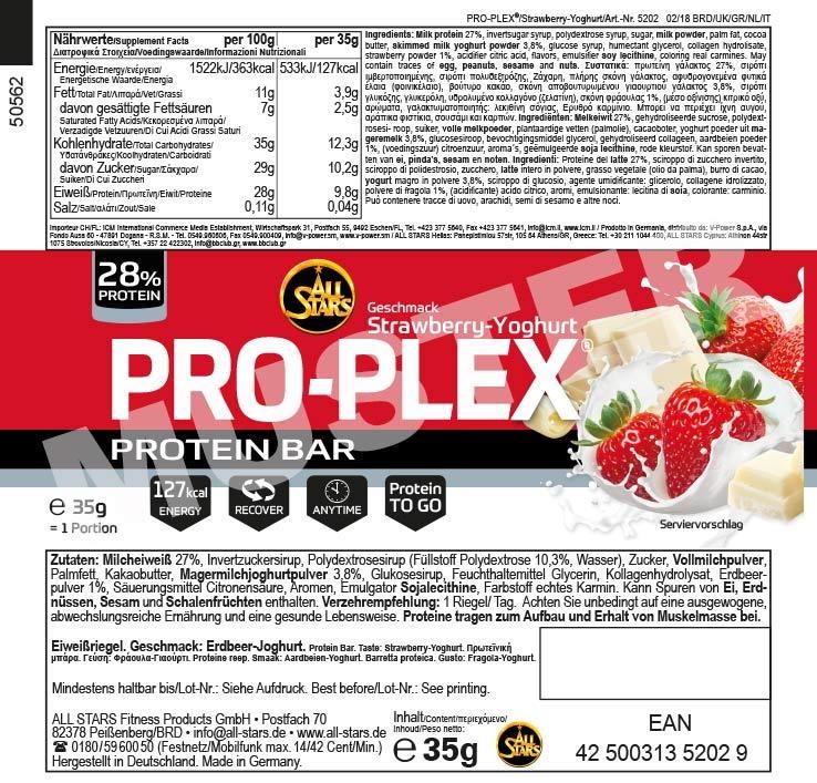 Proplex-etikett-Erdbeere